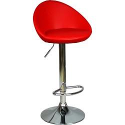 Larissa Bar Sandalyesi Kırmızı Deri
