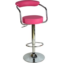 Monica Bar Sandalyesi - Pembe Deri