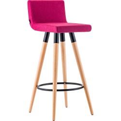Lena Ahşap Ayaklı Bar Sandalyesi