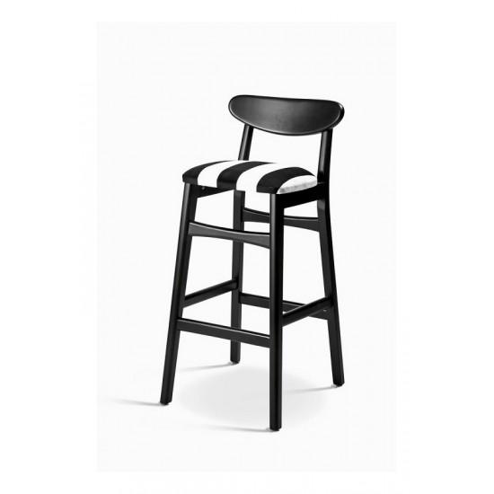 Ahşap Kara Fırın Bar Sandalyesi