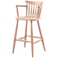 Kırlangıç Kollu Ham  Ahşap Bar Sandalyesi