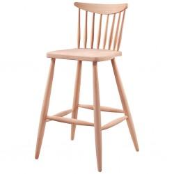 Kırlangıç Ham Ahşap Bar Sandalyesi
