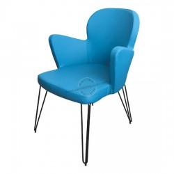 Kelebek Tel Ayaklı Cafe Sandalyesi