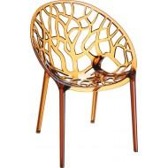 Siesta Crystal Sandalye Kahverengi Transparan