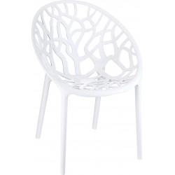 Siesta Crystal Sandalye Parlak Beyaz