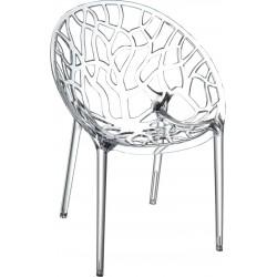 Siesta Crystal Sandalye Şeffaf Transparan