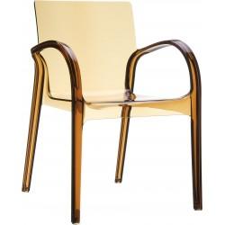 Siesta Dejavu Sandalye Kahverengi Transparan