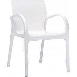Siesta Dejavu Sandalye Parlak Beyaz