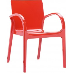 Siesta Dejavu Sandalye Parlak Kırmızı