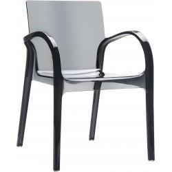 Siesta Dejavu Sandalye Siyah Transparan