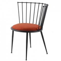 Ase Metal Sandalye Siyah