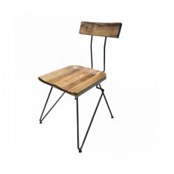 Cafe Metal Ayaklı Ahşap Sandalye