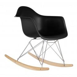 Eames Sallanır Siyah Sandalye