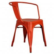 Kollu Tolix Sandalye Kırmızı