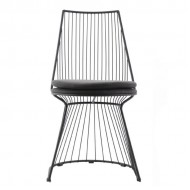 Ladre Metal Sandalye Siyah
