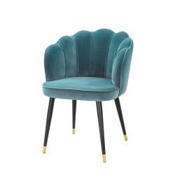 Rose Yemek Masası Sandalyesi Mavi