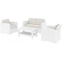 Monaco Lounge Koltuk Set Beyaz