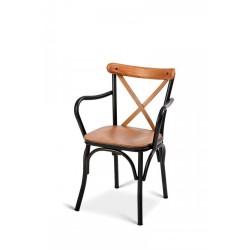 Kollu Metal Çapraz Thonet Sandalye